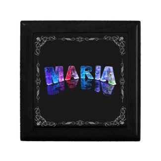 The Name Maria in 3D Lights (Photograph) Jewelry Box