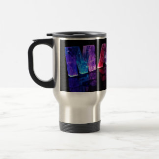 The Name Maria in 3D Lights (Photograph) Travel Mug