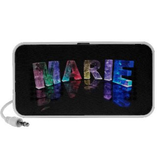 The Name Marie in 3D Lights (Photogarph) Mp3 Speakers