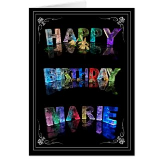 The Name Marie in 3D Lights (Photograph) Cards