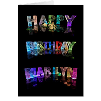 The Name Marilyn in 3D Lights (Photogarph) Card