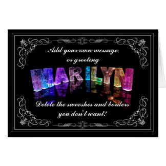 The Name Marilyn in 3D Lights (Photograph) Card