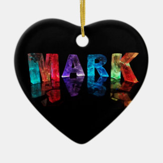 The Name Mark in 3D Lights (Photogarph) Christmas Tree Ornaments