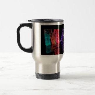 The Name Mark in 3D Lights (Photogarph) Travel Mug