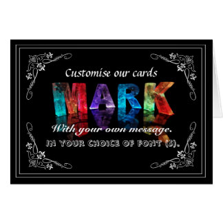 The Name Mark in 3D Lights (Photograph) Greeting Card