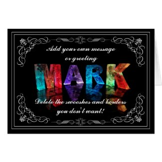 The Name Mark in 3D Lights (Photograph) Cards