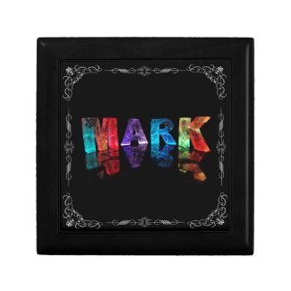 The Name Mark in 3D Lights (Photograph) Gift Box