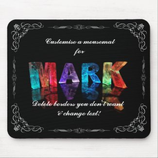 The Name Mark in 3D Lights (Photograph) Mousemats