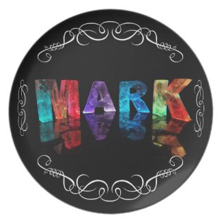The Name Mark in 3D Lights (Photograph) Plates