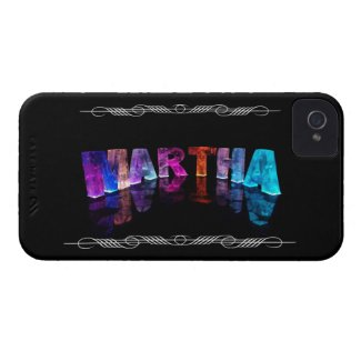 The Name Martha in 3D Lights (Photograph) Case-Mate iPhone 4 Cases