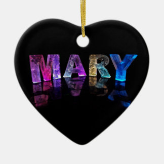 The Name Mary in 3D Lights (Photogarph) Christmas Ornament
