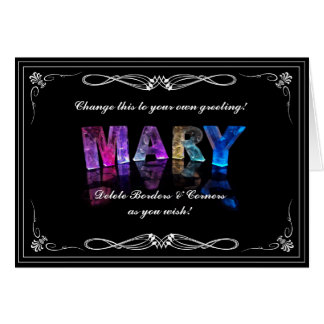 The Name Mary in 3D Lights (Photograph) Card