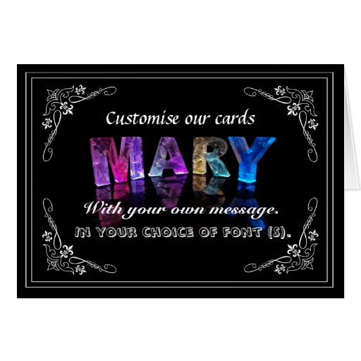 The Name Mary in 3D Lights (Photograph) Greeting Card