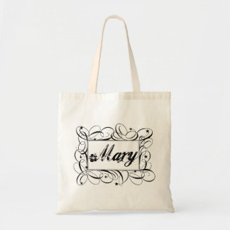 The name Mary in black inside stylish frame Budget Tote Bag