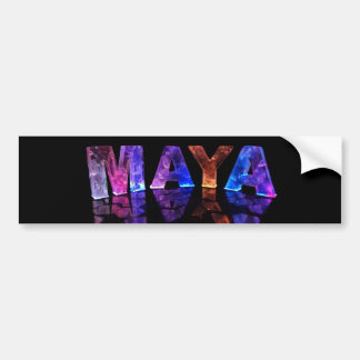 The Name Maya in 3D Lights (Photograph) Bumper Sticker