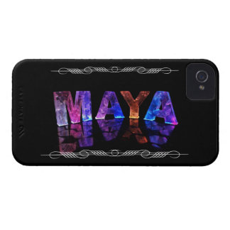 The Name Maya in 3D Lights (Photograph) iPhone 4 Case