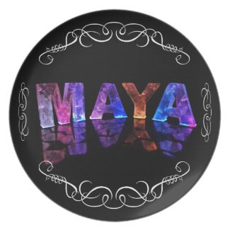 The Name Maya in 3D Lights (Photograph) Plates