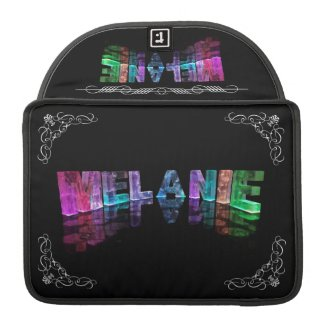 The Name Melanie in 3D Lights (Photograph) Sleeve For MacBook Pro