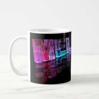 The Name Melanie in 3D Lights (Photograph) Coffee Mug