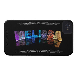 The Name Melissa in 3D Lights (Photograph) iPhone 4 Case-Mate Case