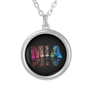 The Name Mia in 3D Lights (Photograph) Pendant