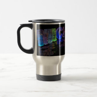 The Name Michelle in 3D Lights (Photograph) Travel Mug