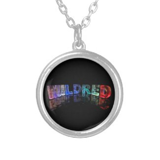 The Name Mildred in 3D Lights (Photograph) Custom Jewelry