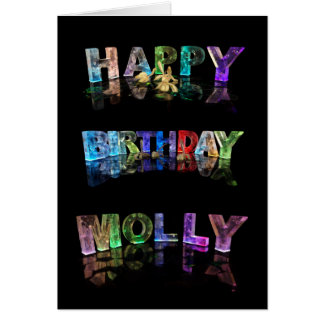 The Name Molly in 3D Lights (Photograph) Greeting Card