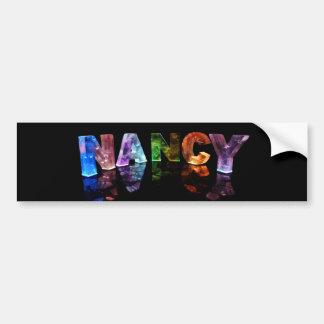 The Name Nancy in 3D Lights (Photograph) Bumper Sticker