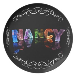 The Name Nancy - Name in Lights (Photograph) Party Plates