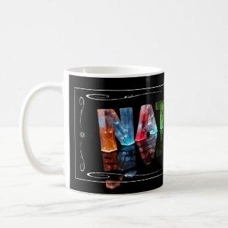 The Name Natalie - Name in Lights (Photograph) Mug