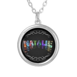 The Name Natalie - Name in Lights (Photograph) Personalised Necklace