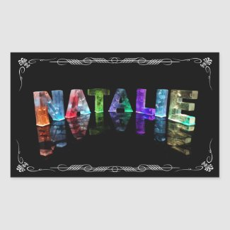 The Name Natalie - Name in Lights (Photograph) Sticker