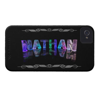 The Name Nathan -  Name in Lights (Photograph) iPhone 4 Case-Mate Cases