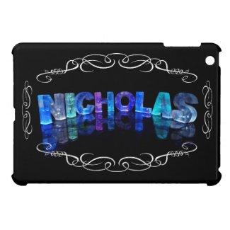The Name Nicholas - Name in Lights (Photograph) iPad Mini Covers