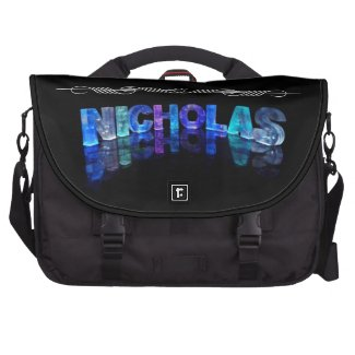 The Name Nicholas - Name in Lights (Photograph) Laptop Bags