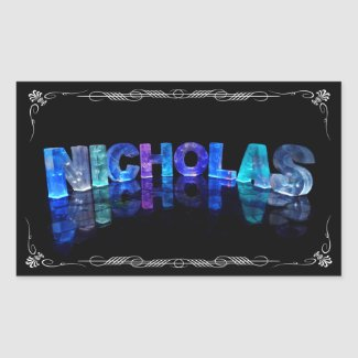 The Name Nicholas - Name in Lights (Photograph) Stickers