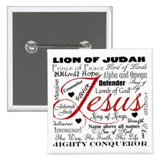 The Name of Jesus 15 Cm Square Badge