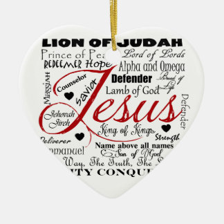 The Name of Jesus Ceramic Heart Decoration