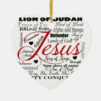The Name of Jesus Christmas Ornament