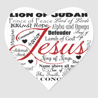 The Name of Jesus Heart Sticker