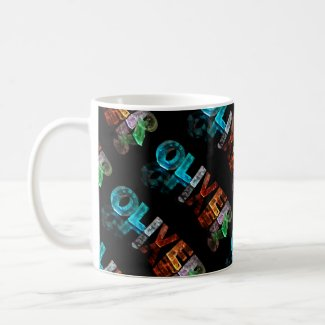The Name Oliver in 3D Lights (Photograph) Mugs