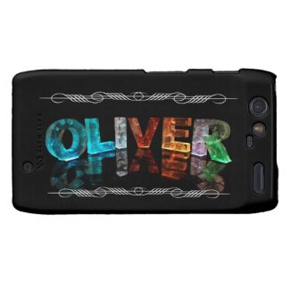 The Name Oliver - Name in Lights (Photograph) Motorola Droid RAZR Cover