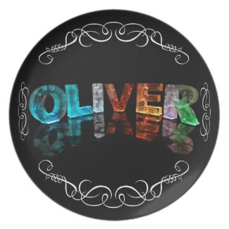 The Name Oliver - Name in Lights (Photograph) Plate