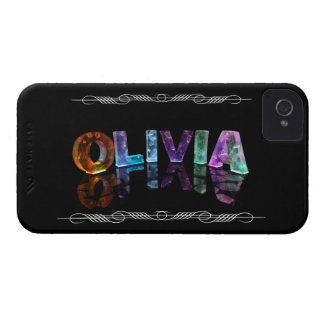 The Name Olivia -  Name in Lights (Photograph) iPhone 4 Case-Mate Case