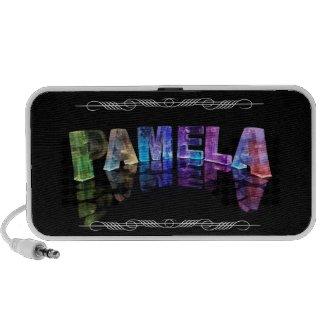 The Name Pamela - Name in Lights (Photograph) Travelling Speaker