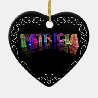 The Name Patricia -  Name in Lights (Photograph) Christmas Ornament