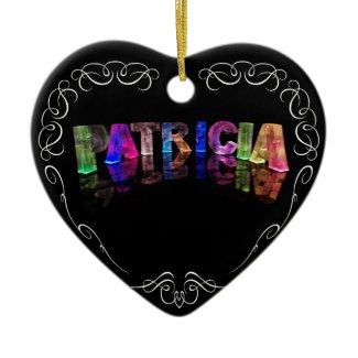 The Name Patricia - Name in Lights (Photograph) Ornament
