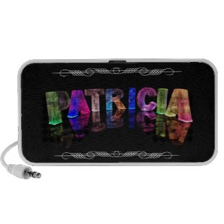 The Name Patricia - Name in Lights (Photograph) iPod Speakers