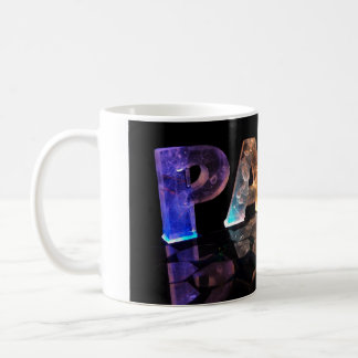 The Name Paul in 3D Lights (Photograph) Coffee Mug